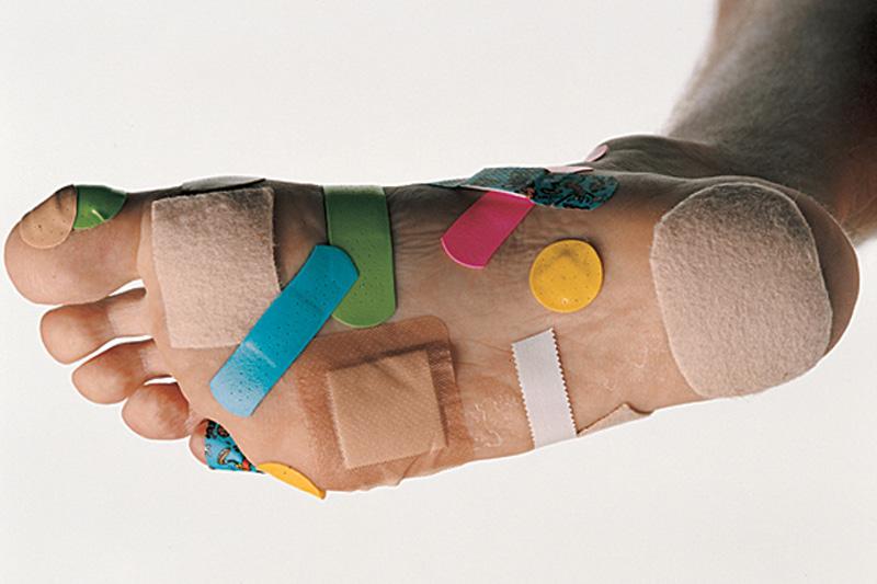 Fußschmerzen durch Blasen am Fuss was tun?