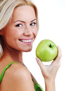 Zahnpflege mit dem Apfel
